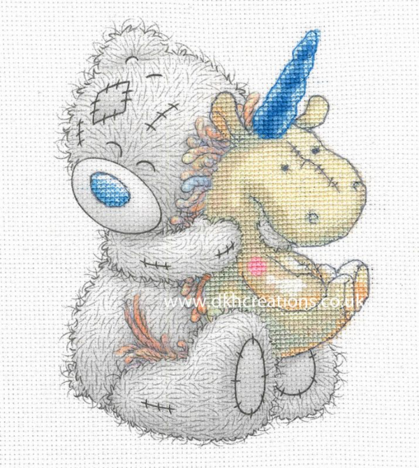 Me To You Tatty Teddy Unicorn Printed Cross Stitch Kit